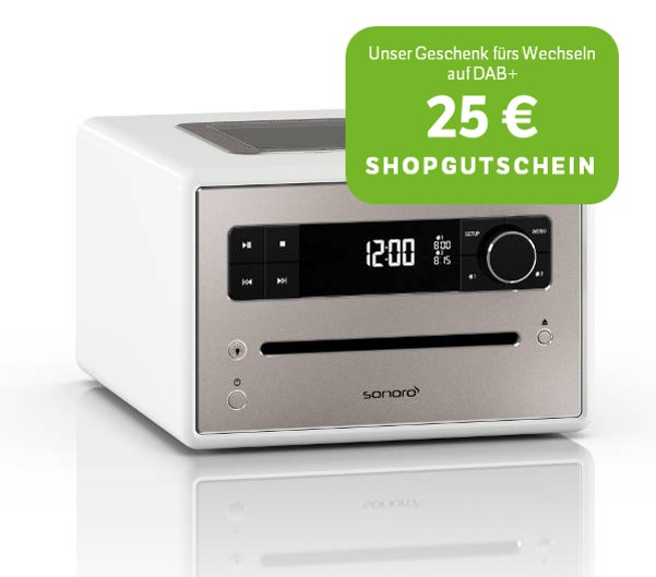 sonoro Qubo - DAB+ Digitalradio mit CD Player
